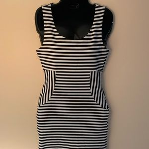 Black & White Striped Mini Dress